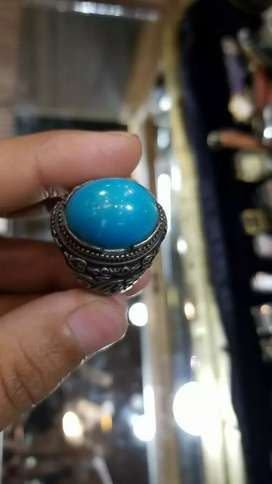 Deals in all kinds of gens stones with pure Silver Ring