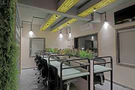 Fully Furnished Table Space: Centrally AC,Conference Room and Pantry