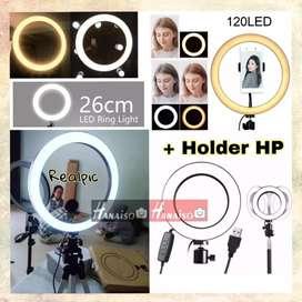 "Lampu RingLight Promo 26 10 inch 26cm 10"" - MUA Ring Light LED Studio"