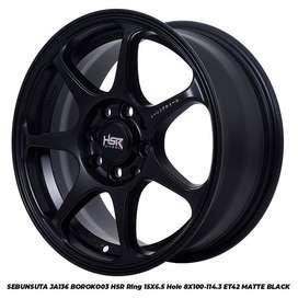 Velg HSR Sebunsuta ring 15X6,5 pcd 8X100-114,3 black