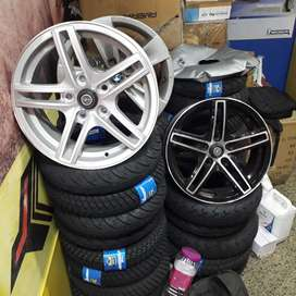 "New Alloy Wheels available, Size-15"", Ertiga, SX4, Innova."