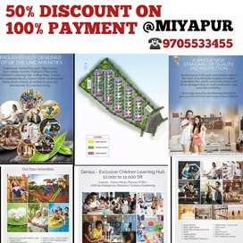 @MIYAPUR  50% DISCOUNT ON 100% PAYMENT LUXURIOUS FLATS GATED COMMUNITY