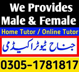 COMPETENT (MALE /FEMALE )TUTORS,HOME TUTOR  ,ONLINE TUTORS