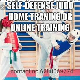 Self defence judo training home and online