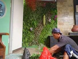 Taman dinding vertikal sintetis