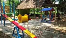 Mainan playground taman ayunan prosotan media pasir ajaiib kinetik AF