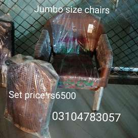 Jumbo size chairs set with table (4+1)  branded