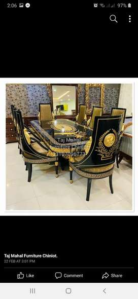 dinning table set consist of 6 chairs and 2 master chairs .