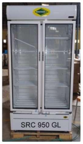 Western Double Door Visi Cooler