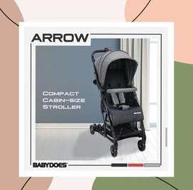 Stroller Kereta Bayi BabyDoes CH-HT 1334 SN Arrow (Grey)