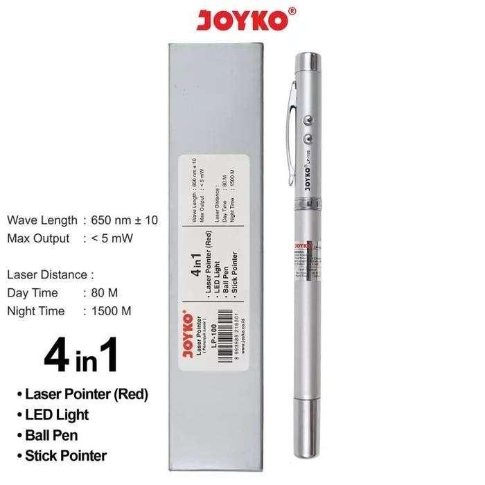 JOYKO LP-100 (4 in 1) : Pulpen - Laser Pointer - Senter - Stik Pointer