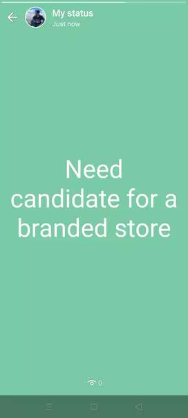 Need Employee for a branded bakery shop in Bhubaneswar