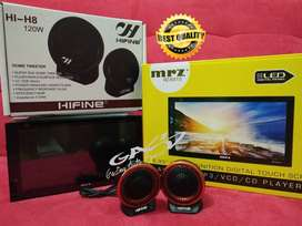 PAKET TWEETER HIFINE PLUS Head unit double din MRZ RZ-6915 full glass