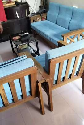 3 seater with 2 seater sofa 1 yr old. With cushiona. 12,500