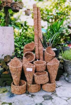 Pot bunga dr serabut kelapa
