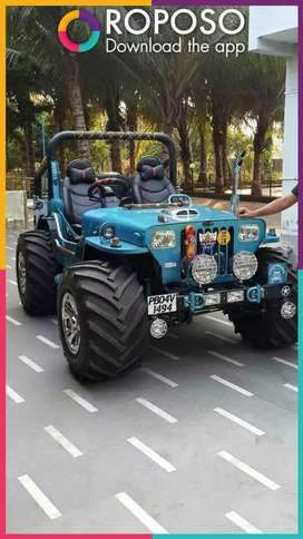 Open modified Jeep willys