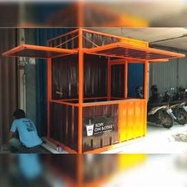 Booth Container kopi container jualan container usaha booth angkringan