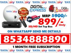 Tata Sky DTH Airtel Tv Dishtv Tatasky All India! Free Amazon Fire Tv