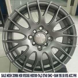 SALE MESH JD986 HSR R15X65 H8X100-114,3 ET40 SMG + BAN 195 50 R15 ACC