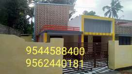 6 cent plot with 1450 Sq. Ft 3 BHK House in palathra