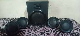 Intex home theatre system with 4 speakers.