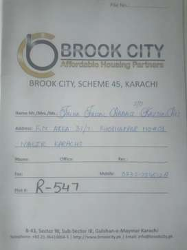 Plot for sale in Brook City Karach