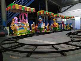 kereta lantai double jok siap pakai mainan kuda genjot animal TWB