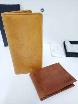 Genuine Leather wallet for men Long and Bifold Wallets in pure leather