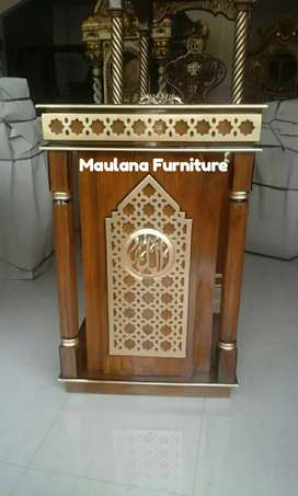 Mimbar furniture podium jati 100%