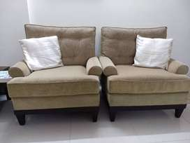 1+1 seater teak-wood frame sofa for sale