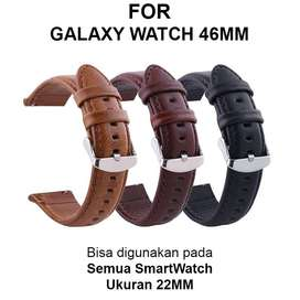 Leather Strap Band Samsung Galaxy Watch 46mm smartwatch tali jam 22mm