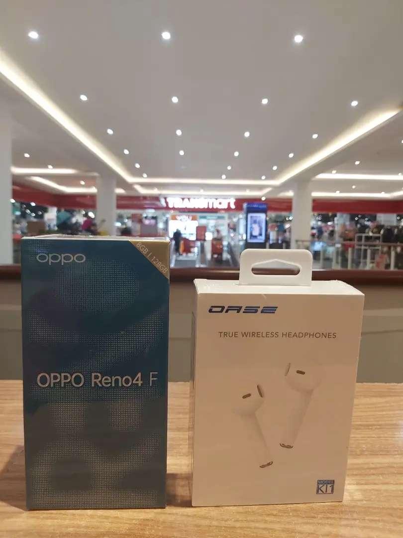 Oppo Reno 4F 8/128 New.Credit Dp 500Rb Kos Kontrak Bisa 0