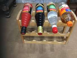 Imported High Quality Wooden bottle rack for kitchen