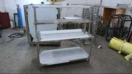 Meja Dapur Stainless Steel Model Extra Shelves Lebih Serbaguna