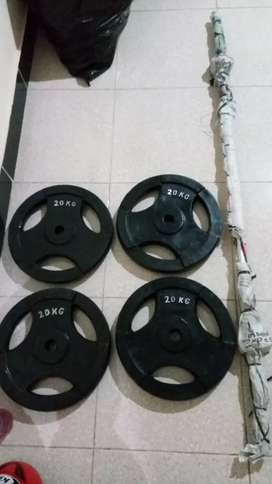 Barbel / dumble set 87kg stik 1,5mtr. FREE ONGKIR