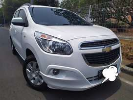 BU Chevrolet Spin LTZ A/T 2013 rare white simpanan terawat mulus lowKM