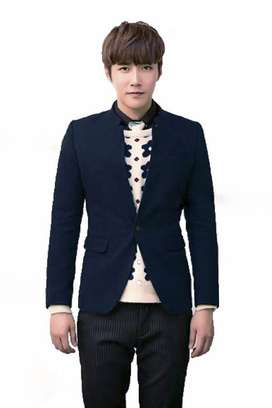 Blazer Pria, Blazer Cowok, Blazer Blue, Blazer Korea, Blazer Skinny
