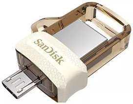 SanDisk new  otg pendrive usb 3.0 fast 32gb mobile& comptr dono me kam