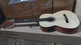 Gitar akustik elektrik baru nylon