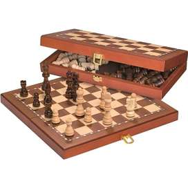 Wooden Chess large size Fold able with Wooden Pieces Fine Quality