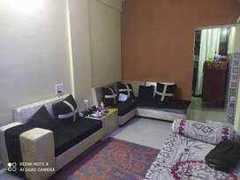 Full furnished 2bhk flat with new furniture and new paint.