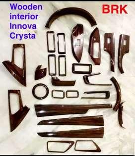 Innova crysta wooden kit power window steering meter