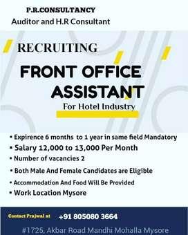 Front office Associate