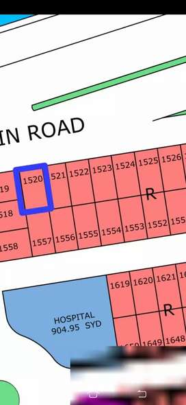 100ft Road Face west Open Plot on 4 year instalment in North Town