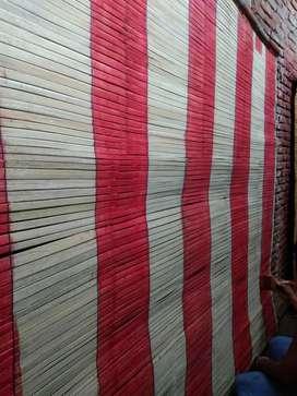 Tirai bambu dan isi bambu dan kasur busa motif