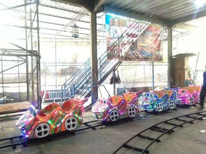 Kereta mini coaster mobil balap DAP promo mainan eskavator 0
