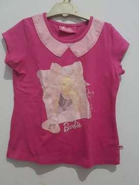 Kaos anak Barbie uk 6 th