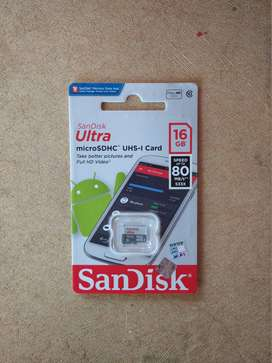 Micro SD SANDISK Ultra 16 Gb C10 80 mb/s (No Adapter)