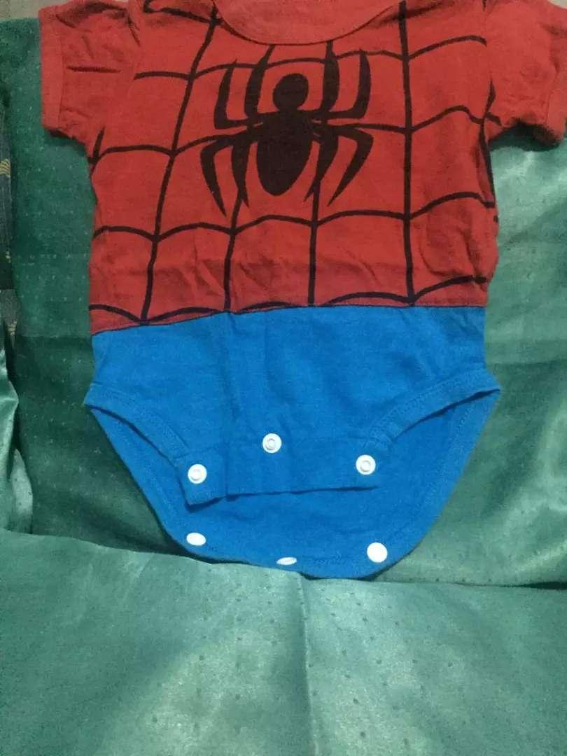 1 Set Jumper Spiderman bayi / new born + topi , PL 0