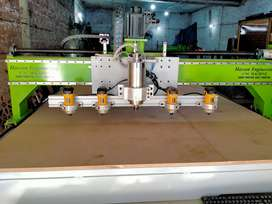 Cnc wood router machine making several sizes